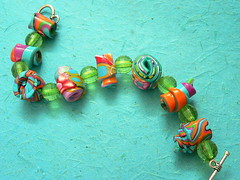Fimo bracelet (ilil  ziv) Tags: handmade may swap sent package colorifficswaporama