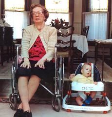 Elizabeth and Brendan on Four Wheels, 1991