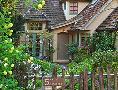 The Fairytale Cottages of Carmel (linda yvonne) Tags: california winners delightful carmelbythesea smallhouse interestingness6 i500 litref storybookstyle storybookhomes shieldofexcellence lindayvonne anawsomeshot ultimateshot magicalworlds fairytalecottage myfavoritegarden flickrdiamond largegarden whimsicalhomes