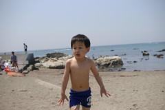 ほら、泳いだら寒いだろ?(^_^;)