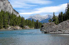Bow River, Banff, Alberta, Canada (Jeff L.2007 (Laverton Images)) Tags: canada mountains river landscape explore alberta banff bowriver canadiana westerncanada sonydsch1 glacialriver interestingness355 i500 keepexploring albertatourism jeffl2007 lavertonimages banffvacation travelingcanada travelingalberta albertacanadalandscape