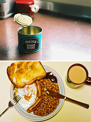 heinz (bobby stokes) Tags: slr film japan breakfast tea toast meat nagoya sausages friedegg analogue bakedbeans heinz fryup fullenglishbreakfast fullenglish beanbarrier