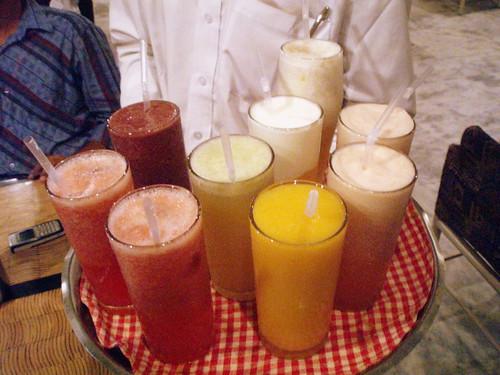 Fresh fruit juices power!!!