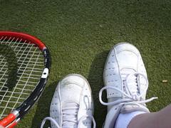 Where My Feet Were..............A Tennis Court