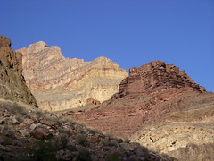 Grand Canyon Geology lesson - cliffs to east of Lower Tapeats Creek Campground (Al_HikesAZ) Tags: park camping sunset shadow arizona mountains creek landscape shadows hiking grandcanyon grand canyon hike national backpacking backpack backcountry hikes inthecanyon  grandcanyonnationalpark coloradoplateau gcnp awesomenature specland thunderriver outdoorbeauty unature tapeats alhikesaz   belowtherim