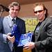 Nic receiving award from British Consul Bob Pierce (Photo Credit: John Gannon)