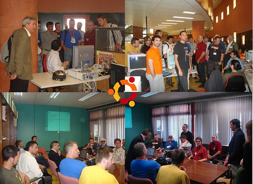 Ubuntu hackers at my office during UDS Seville