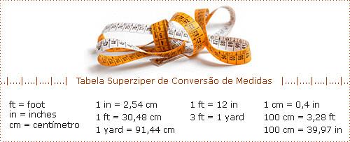 1 in = 2,54 cm