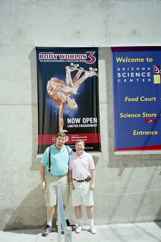 Phil and Robert at Body Worlds