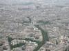 L'Arc de Triumph as seen from the Eiffel Tower