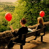 The red balloon diaries *2 (cattycamehome) Tags: girls red summer portrait colour green girl tag3 taggedout kara bench balloons landscape countryside spring women bravo tag2 all sitting tag1 view bright quote derbyshire © watching balloon dream surreal dreaming hills rights jess reserved proust catherineingram gtaggroup may2007 abigfave cattycamehome allrightsreserved© cfmay redballooons