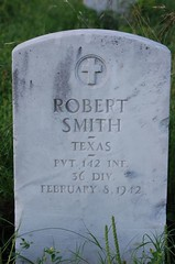 Robert Smith (Shoeless Joe/64) Tags: cemetery dallas texas military headstone worldwari americanlegion robertsmith gravemarker dallascounty forestlawncemetery 36division 142infantry