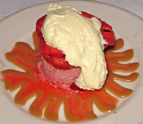Louisiana Strawberry Shortcake with Caramel Sauce