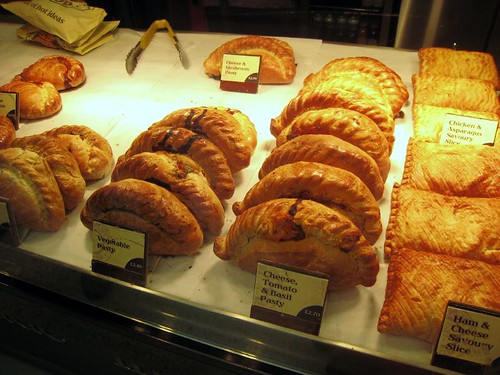 """Traditional"" pasties from a stand at the station"