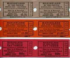 1960's Marineland Tickets
