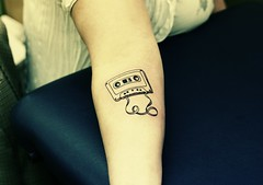Child of the 80's... (Ani-Bee) Tags: tattoo ink arm newbrunswick cassettetape saintjohn tatt outworld