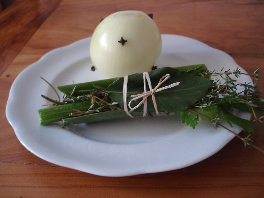 bouquet garni e cebola