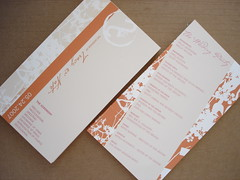 Wedding Programs (pricklypearbloom) Tags: wedding orange design graphic programs