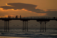 Sunset stroll (~Glen B~) Tags: uk england silhouette pier dusk cleveland flickrmeet teesside saltburn prot flickrsbest satelliteportfolio upcoming:event=189905