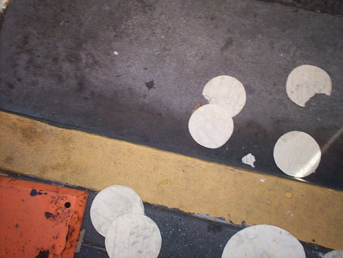 tortillas on the pavement