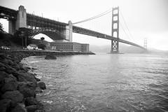 Into the Fog (Thomas Hawk) Tags: sanfrancisco california city bridge blackandwhite bw usa fog river blackwhite unitedstates 10 unitedstatesofamerica goldengatebridge fav10 photowalking photowalking1