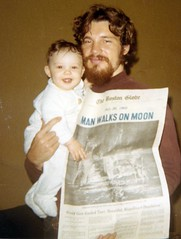 Man Walks on Moon - 1969 (raisonettes) Tags: 1969 astronauts moonwalk moonlanding thebostonglobe july201969 manwalksonmoon usamakeshistory historicoccasion