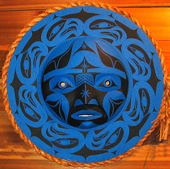 Eagle Moon mask - carved cedar (Mowachaht) (axiepics) Tags: blue b orange art alex all eagle artistic native c carving m rights cedar firstnations karma spirituality aboriginal amos reserved blueandorange visualart skelly orangeandblue copyright mowachaht muchalat supershot flickrsbest cedarcarving mywinners mywinner impressedbeauty aplusphoto firsttheearth citrit patrickamos eaglemoon colourartaward copyrightalexskellyallrightsreserved