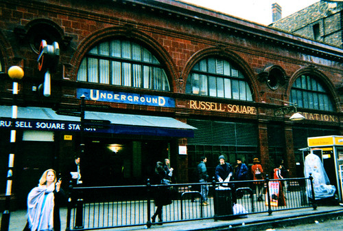 Russell Square tube station in London