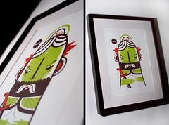 framed (malota) Tags: illustration drawing framed character screenprinting dibujo personaje ilustracin guerrero serigrafa