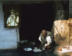 dahi wallah hanuman watches, Bundi, Rajasthan, India 1981 (ianpwatkinson) Tags: india hanuman yoghurt yogurt oldcity rajasthan bundi blueribbonwinner dahi instantfave globalspirit impressedbeauty dahiwallah BendingLight:POD=june5 theindiatree
