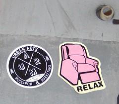 RELAX pink sticker (Reid Harris Cooper) Tags: nyc newyorkcity ny newyork relax sticker stickerart uarm urbanarts relaxclothing urbanartsresearchmarketing