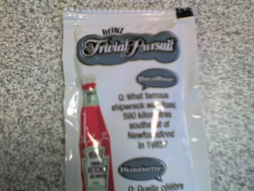 Trivial Pursuit ketchup