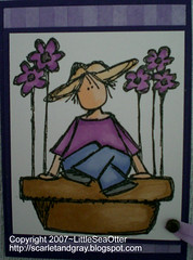Flower Pot Girl ATC