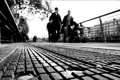 On The Boardwalk (Dave G Kelly) Tags: ireland people dublin blur interestingness blurred outoffocus liffey boardwalk quays i3 bertieahern irlandia i500 123bw abigfave favemegroup3 superhearts bertieahernposter davegkelly
