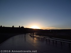 Old Faithful at Sunset (Annes Travels) Tags: yellowstone wyoming uppergeyserbasin geysers geothermal