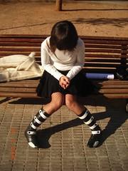 Crisss (>>>Alyn<<<) Tags: parque girl chica cristina banco triste cris pensar botas castellon acera falda pensativa ltytr1 a3b rycx4 acfy