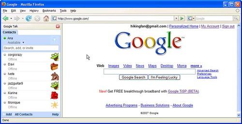 Talk im Firefox