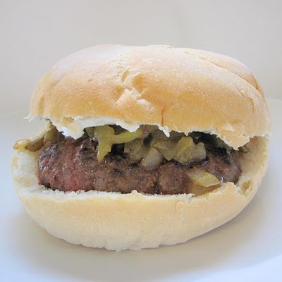 Cooking Stuff: Green Chile & Cream Cheese Burger