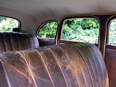 Inside a 1939 Chevrolet