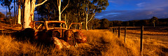 Days Gone By - Country Australia (matt lauder gallery) Tags: country panoramic carwreck oldute rusticcar