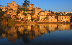 Sunset on Puy-l'Evque (David Giral | davidgiralphoto.com) Tags: sunset sky david france reflection water river nikon village searchthebest sundown south lot clear d200 46 midipyrenees giral puyleveque blueribbonwinner nikond200 50faves 18200mmf3556gvr removedfromnikkorfortags copyrightdgiral davidgiral anawesomeshot impressedbeauty isawyoufirst puylevque flickrdiamond francelandscapes