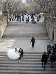 Saturday in Central Park (fotolulu) Tags: park nyc wedding groom bride centralpark steps