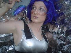 Day 39: Futurstic Sex Robot (octaypus) Tags: blue silver robot shiny gun wig 365 cyborg circuit bluehair futuristicsexrobotz 365days futuristicsexrobot