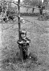 Kate by the honey locust tree, 1973