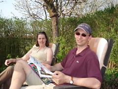 Esther en Ries (denise_baas) Tags: les bains wijnreis