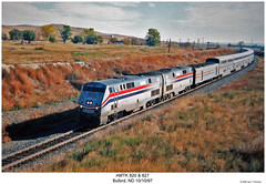 Amtrak 820 & 827 (Robert W. Thomson) Tags: railroad train diesel railway amtrak northdakota locomotive trainengine genesis ge buford empirebuilder passengertrain amtk p42dc