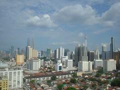49.從房間陽台看出去的吉隆坡市景