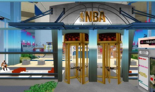 NBA shop in Second Life