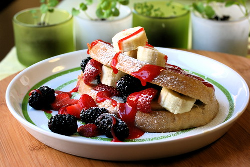 Stuffed Banana Berry French Toast