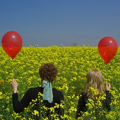 The red balloon diaries *1 (cattycamehome) Tags: uk flowers blue girls red portrait sky flower colour art field yellow tag3 taggedout standing kara balloons landscape spring women bravo tag2 colours tag1 bright quote derbyshire balloon dream surreal magritte rape jess flowering redballoon willington oilseedrape redballoons rapefield catherineingram blueribbonwinner supershot magicdonkey eggington outstandingshots may2007 abigfave cattycamehome goldenphotographer allrightsreserved howwearenow